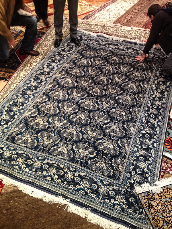 If you've ever wondered what a $35,000 silk rug looks like here you go.