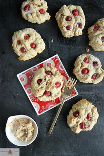 Cranberry Spice Scones with cinnamon orange butter