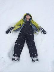 ski equipment(0.0), ski(0.0), snowboard(0.0), drawing(0.0), hand(1.0), winter sport(1.0), footwear(1.0), snow angel(1.0), snow(1.0),