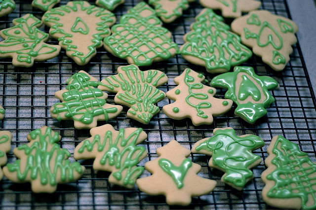 christmas tree cookies by Tifty, on Flickr