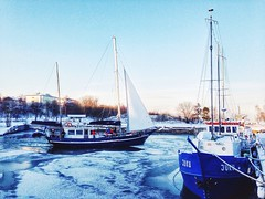 Winter look on a bay
