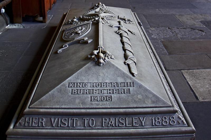 King Robert III of Scotland 1390-1406 Paisley Abbey