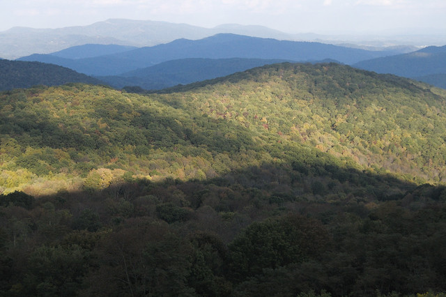 View from Sugarlands Overlook at Grayson Highlands State Park