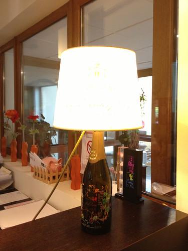 シャンパーニュのランプ