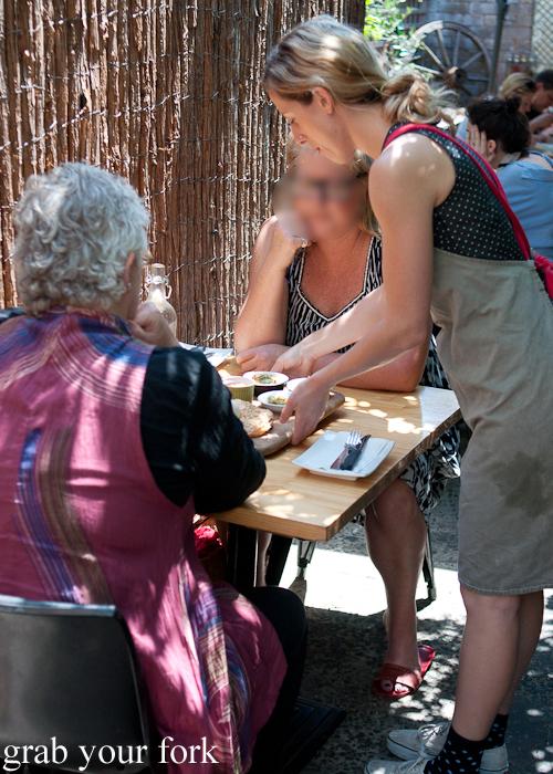 Outdoor seating at Shenkin Kitchen Enmore