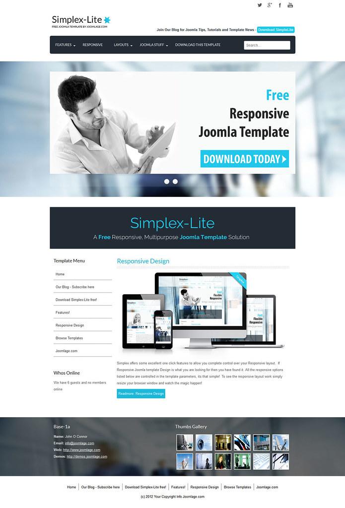 Joomla corporate intranet template joomla : 2018