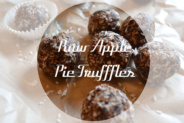 Raw Apple Pie Truffles Title