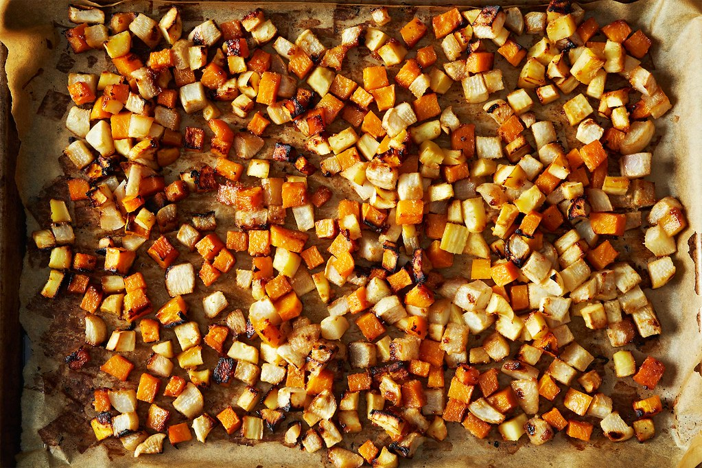 Miso-Maple Roasted Roots from Food52