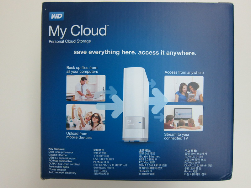 WD My Cloud - Box Back