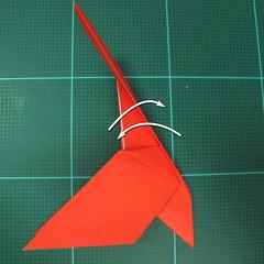 การพับกระดาษเป็นนกพิราบ (Origami pigeon) 00024