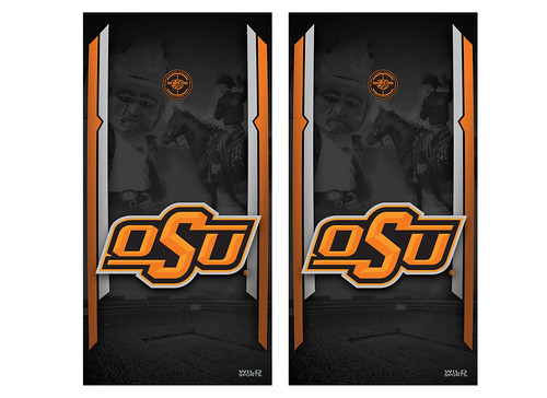 Oklahoma State Cornhole Game Decal Set
