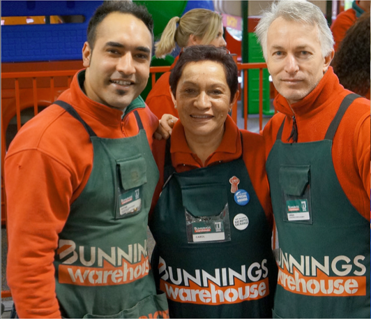 Bunnings Warehouse West Ipswich has hired over 165 locals