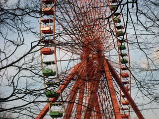 Altes Riesenrad im verfallenen Spreepark