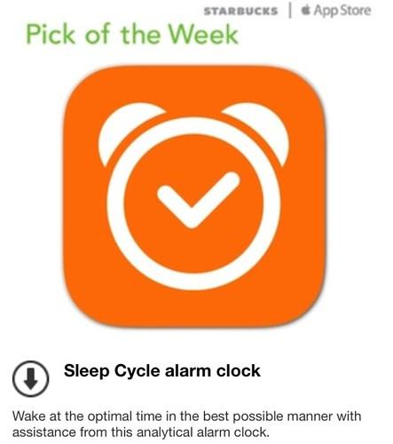 Starbucks Pick of the Week - Sleep Cycle alarm clock