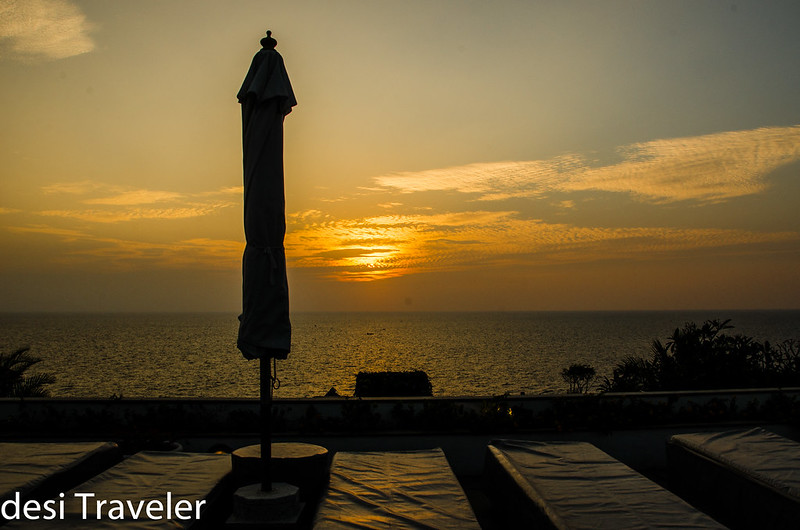 Sunset from Leela Kovalam