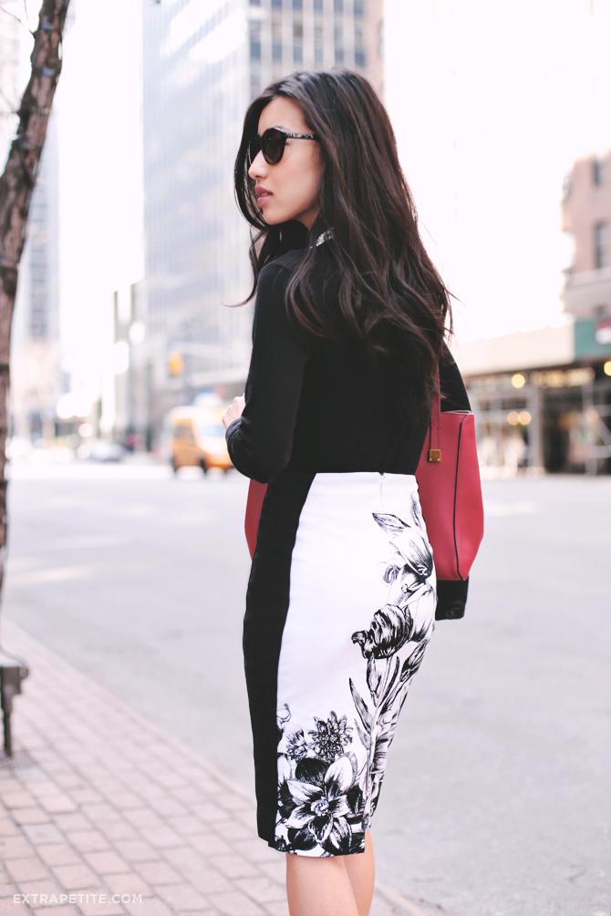 WHBM floral skirt1