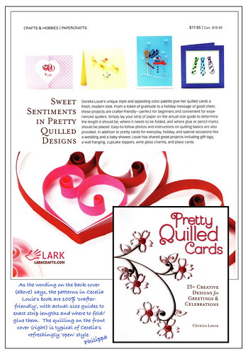 Review of 'Pretty Quilled Cards' by Cecelia Louie by Philippa Reid