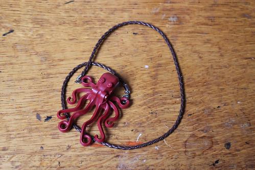 Lego octopus necklace