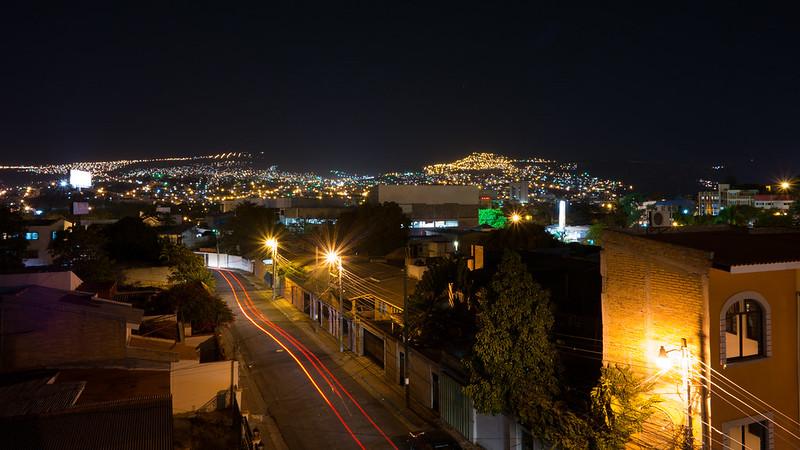 Tegucigalpa, Honduras Long Exposure from Humuya Inn