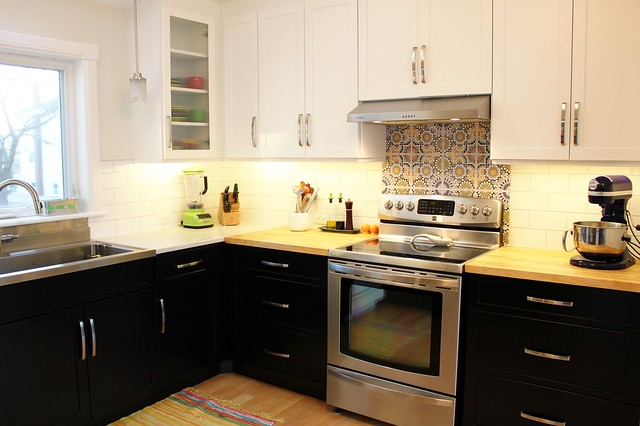 Countertop transition (to whoever emailed me about quartz/bb)