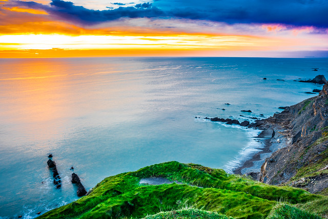 Sunset in Bude, Cornwall, United Kingdom