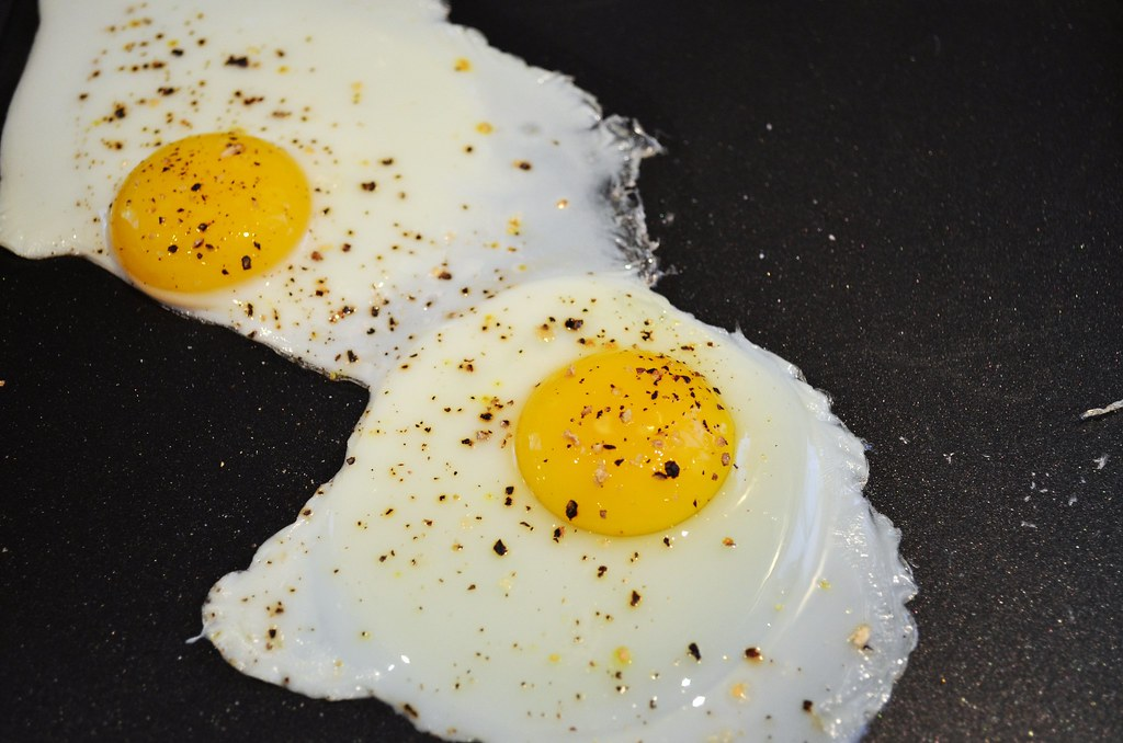 Fully cooked eggs