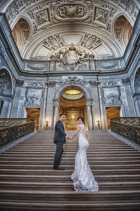 Donfer, San Francisco, City Hall, Fine Art, Pre-Wedding, World Tour, 海外婚紗, 自助婚紗