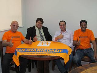 Lideranças de Batatais visitam sede do Solidariedade-SP
