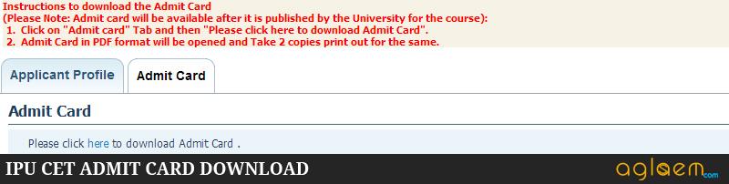 IPU CET Admit Card 2015