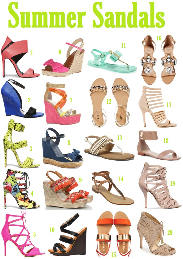 Obsessing over Summer Sandals on Living After Midnite