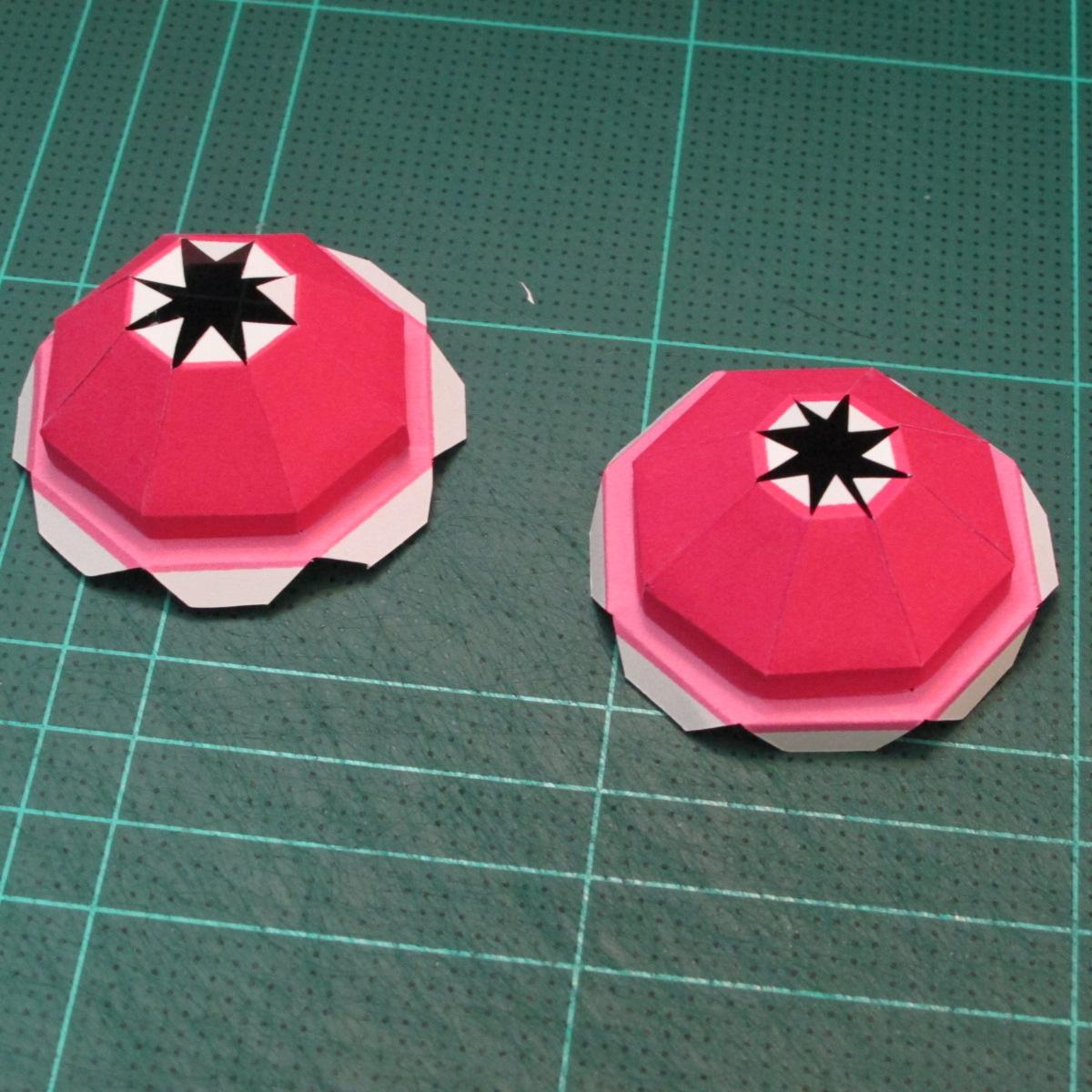 วิธีทำโมเดลกระดาษตุ้กตาคุกกี้รัน คุกกี้รสสตอเบอรี่ (LINE Cookie Run Strawberry Cookie Papercraft Model) 037