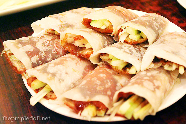 Peking Duck Pancakes at Phoenix Court The Bellevue Manila