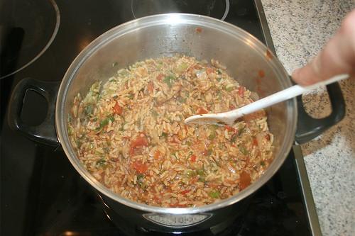 31 - Tomaten & Reis vermischen / Mix tomatoes & rice