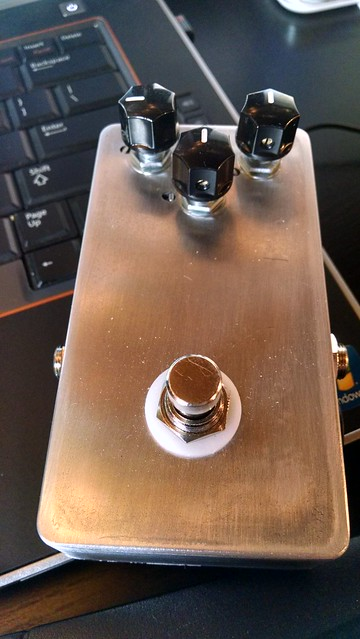 Finished Pedal with knobs on