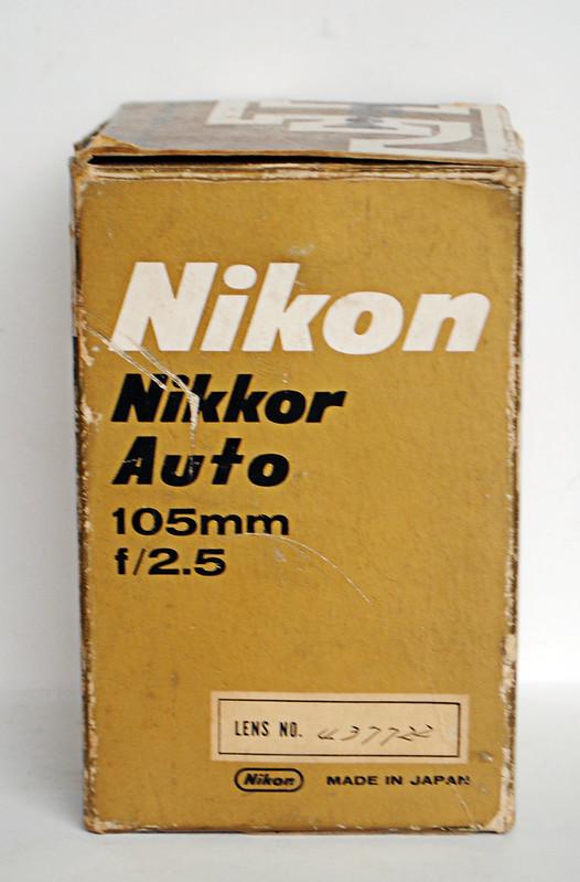 Khánh Hòa -  Bán lens MF nikon 105mm 2.5 non AI, sưu tầm ( fullbox )