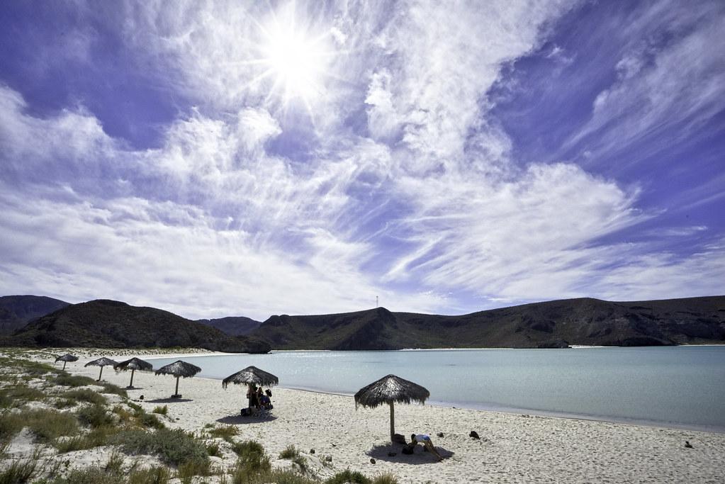 Palapas Along Playa Balandra
