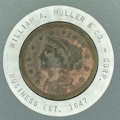 1847 cent SS encased