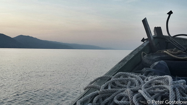Dawn departure on Lake Malawi