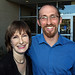 LMU School of Film & Television posted a photo:	Gale Anne Hurd chats with line producer of The Hollywood Masters, Sam Messe.