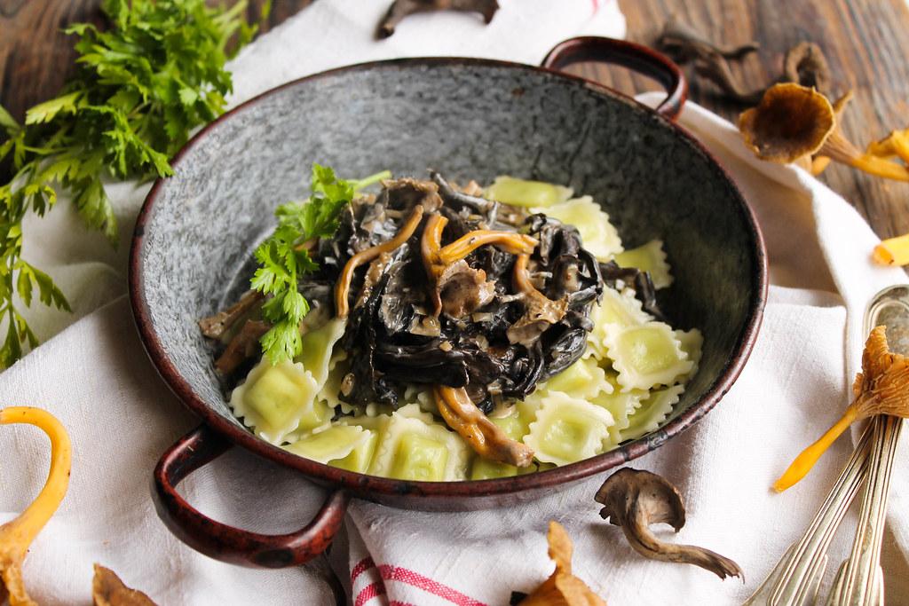 recette de Ravioles aux champignons