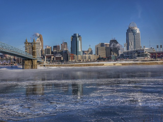 frozen Ohio River