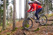 Fahrtechniktraining mit dem Mountainbike. Foto: Annette Härter.