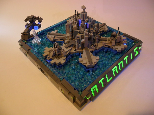 LEGO Stargate Atlantis Display blacklight