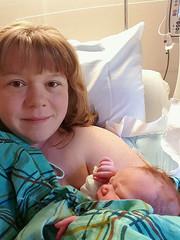 Emily and baby Katherine yesterday