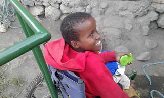 In wheelchair