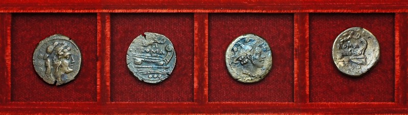 RRC 061 Victory quadrans, sextans, Ahala collection, coins of the Roman Republic
