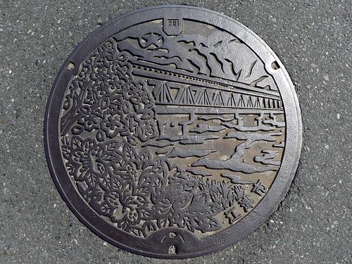 Gotsu city Shimane pref, manhole cover (島根県江津市のマンホール)