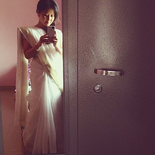 me in the traditional Indian #sari before teaching my first class to the seminary students :)  I've no idea the amount of work it took to wear these?!!! Thank goodness I have women here to dress me. One of the professors told me that a woman looks her mos