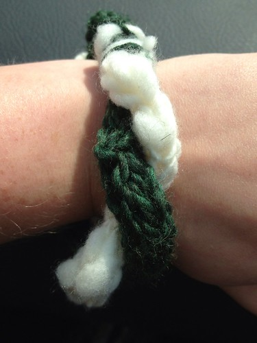 Celtic twist knit bracelet