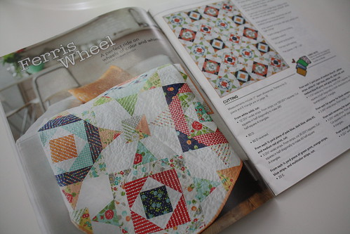 Quilty July/August issue - my Ferris Wheel quilt on page 14